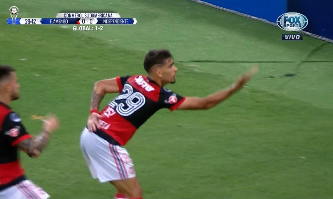 Paquetá marcó el 1 a 0 para Flamengo