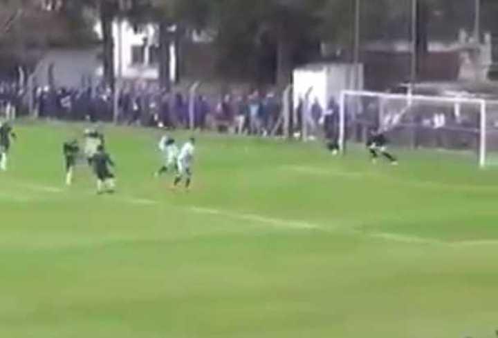 El gol de Alemán para Gimnasia ante Godoy Cruz.