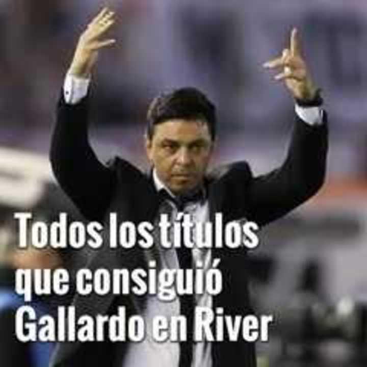 Los títulos de Gallardo en River