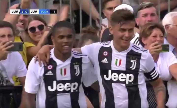 El primer gol de Dybala en el amistoso