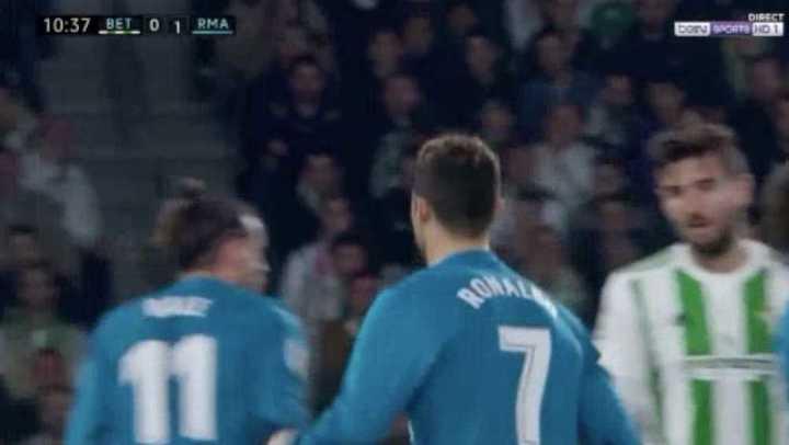 Asensio aprovechó el remate de Cristiano