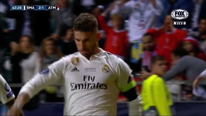 Sergio Ramos lo dio vuelta de penal