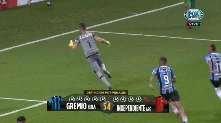 La definición por penales entre Gremio e Independiente