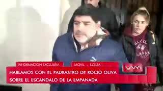 El padrastro de Rocío Oliva explicó por qué se comió una empanada mientras atendían a Maradona