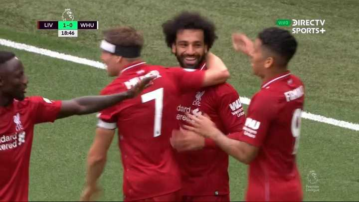 Salah metió el primero del Liverpool