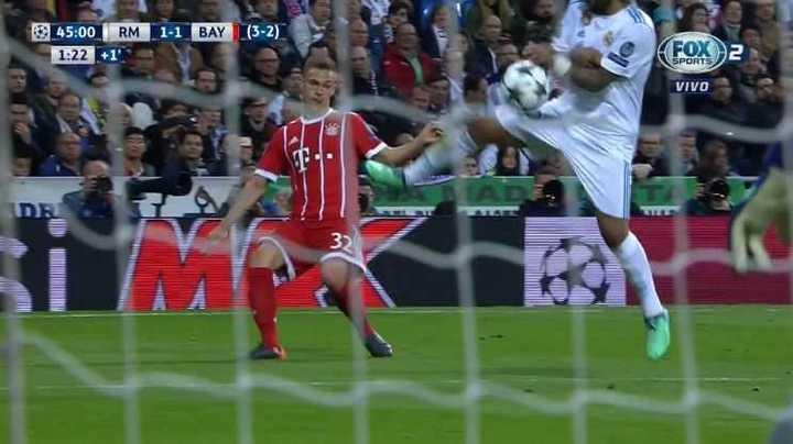 Marcelo puso la mano