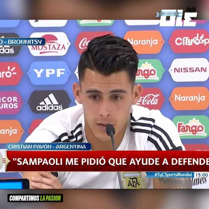 Conferencia de prensa de Pavón.