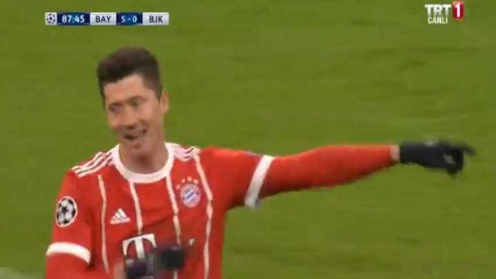 Lewandowski también marcó el quinto