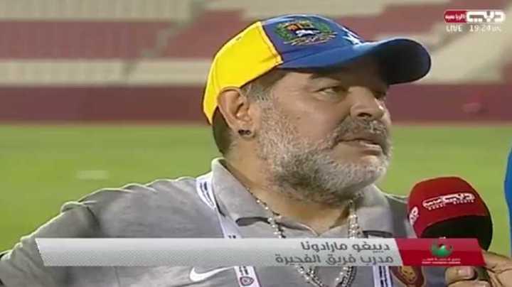 Diego habló tras el triunfo de su equipo