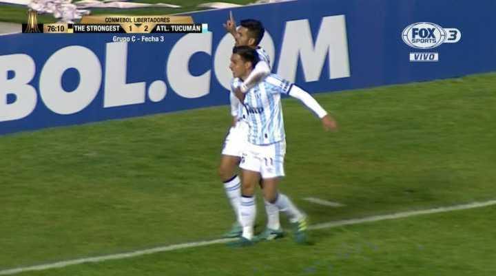Atlético Tucumán se puso a arriba con un 2 a 1