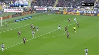 El gol de Alex Sandro para abrir el derby de Torino
