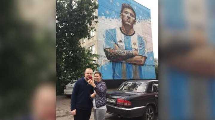 Un mural de Messi engalana Bronnitsy