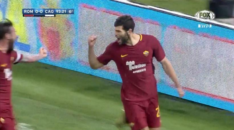 Fazio marcó el gol de la victoria sobre el final