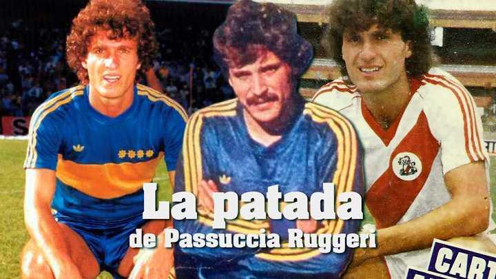 La patada de Passucci a Ruggeri