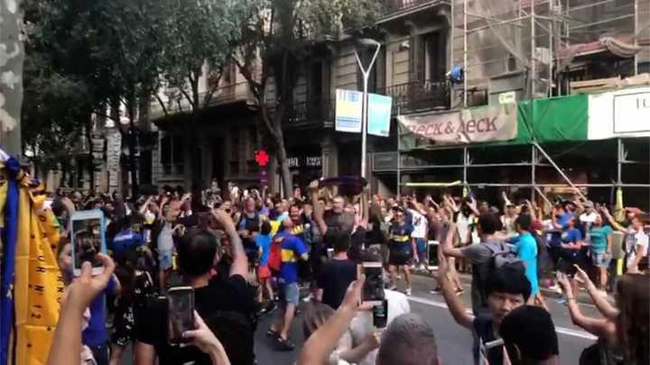 Locura Xeneize en Catalunya