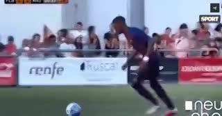 Ilaix Moriba le clavó un golazo de mita de cancha al Real Madrid