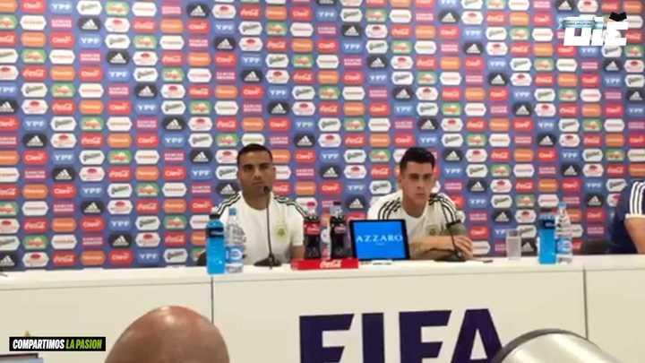 Mercado y Pavón en conferencia de prensa.