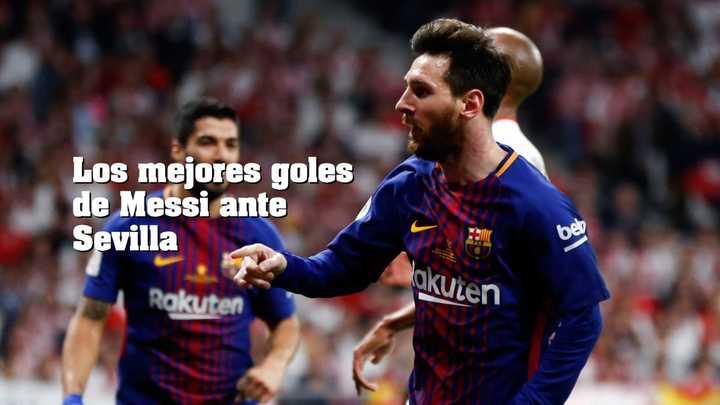 Los mejores goles de Messi contra el Sevilla