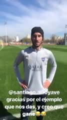El saludo de Seba Pérez para Santiago Arroyave