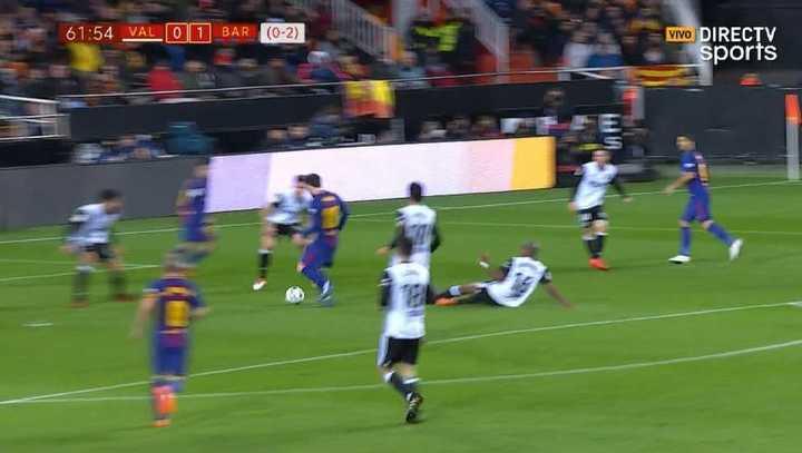 Messi tuvo otra clara