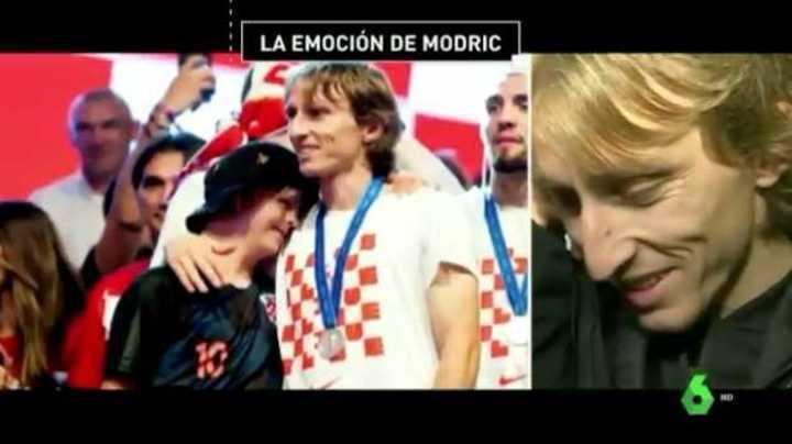 La emoción de Luka Modric