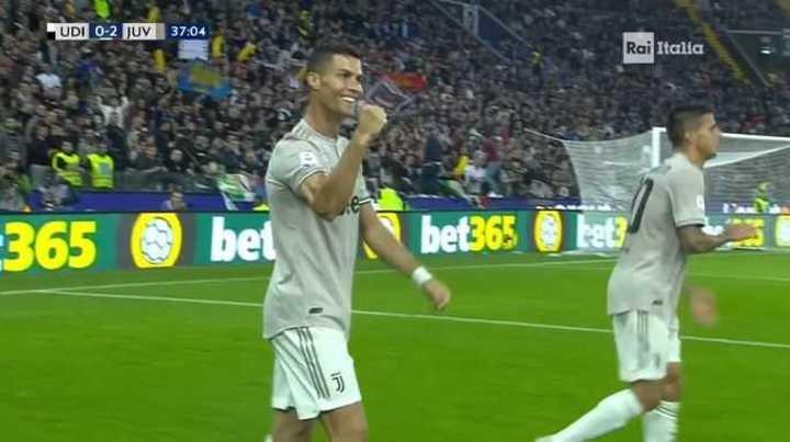 Ronaldo puso el 2 a 0 de Juventus sobre Udienese