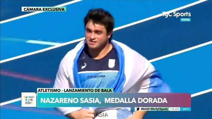 ¡Sasia se llevó la medalla de oro!