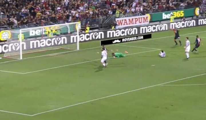 El 1-0 del Cagliari ante Milan.