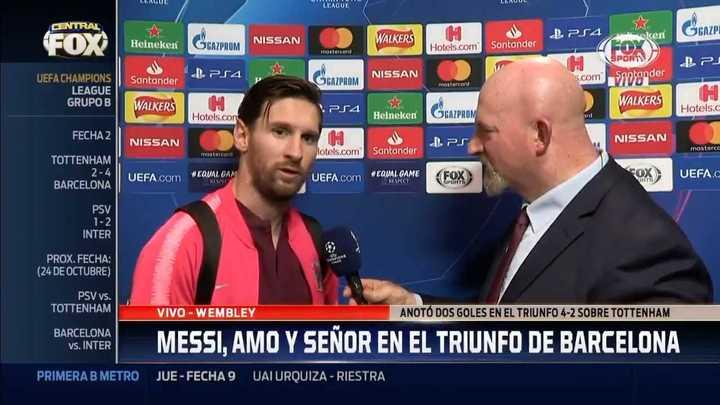 Declaraciones de Messi