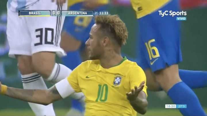 Se cayó Neymar