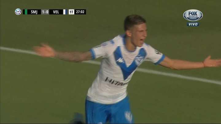 Nico Domínguez empató de cabeza