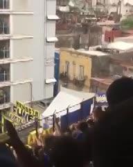 Los hinchas de Boca les cantaron a los vecinos de la Bombonera