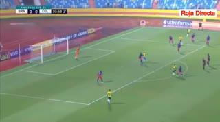 Empate entre Brasil y Colombia