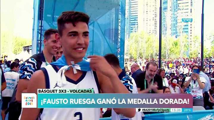 ¡Medalla dorada para Fausto Ruesga!