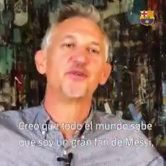 Gary Lineker piropeó a Messi
