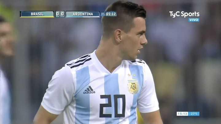 Lo Celso tuvo la primera clara de Argentina