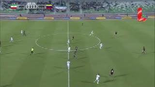 Los goles en el empate de Irán y Venezuela