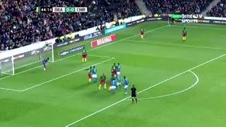 Brasil marcó el 1 a 0 sobre el final del primer tiempo