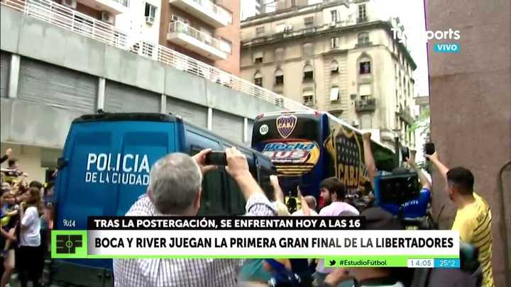 Boca partió rumbo a la Bombonera