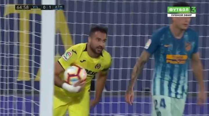 Mirá los goles de Villareal 1 At. de Madrid 1