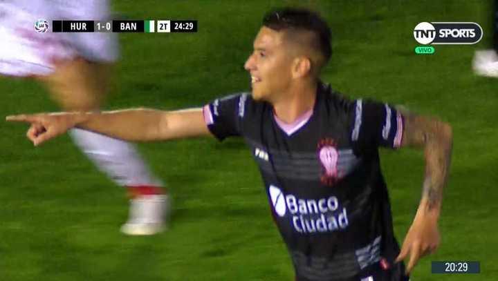 Auzqui marcó el 2 a 0 para el Globo