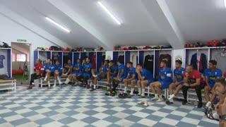 El plantel de Mellilla al enterarse que se cruzará ante Real Madrid