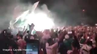 La fiesta de los hinchas de Palmeiras