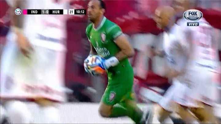 Marcos Díaz tapó el gol de Meza