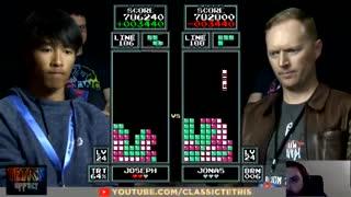 Epica definición en el Mundial de Tetris