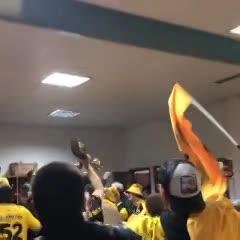 Así festejó Peñarol el triunfo en el clásico