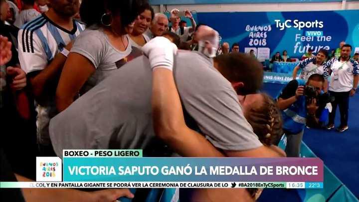 Victoria Saputo ganó la última medalla argentina en estos Juegos Olímpicos