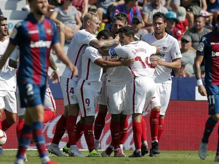 Tremenda paliza del Sevilla al Levante
