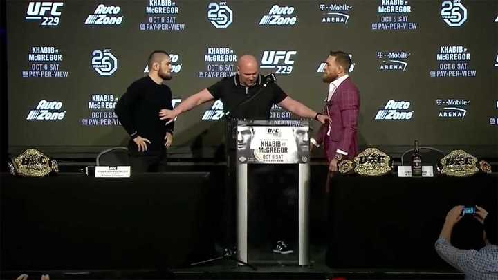 Khabib vs McGregor en conferencia de prensa