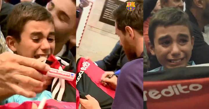 La emoción de un nene de Newell's al ver a Messi
